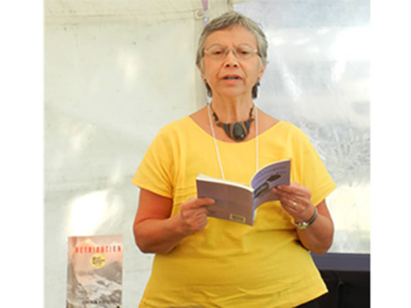 Carmen Rodriguez at the San Miguel de Ayende Writers Festival, 2013.